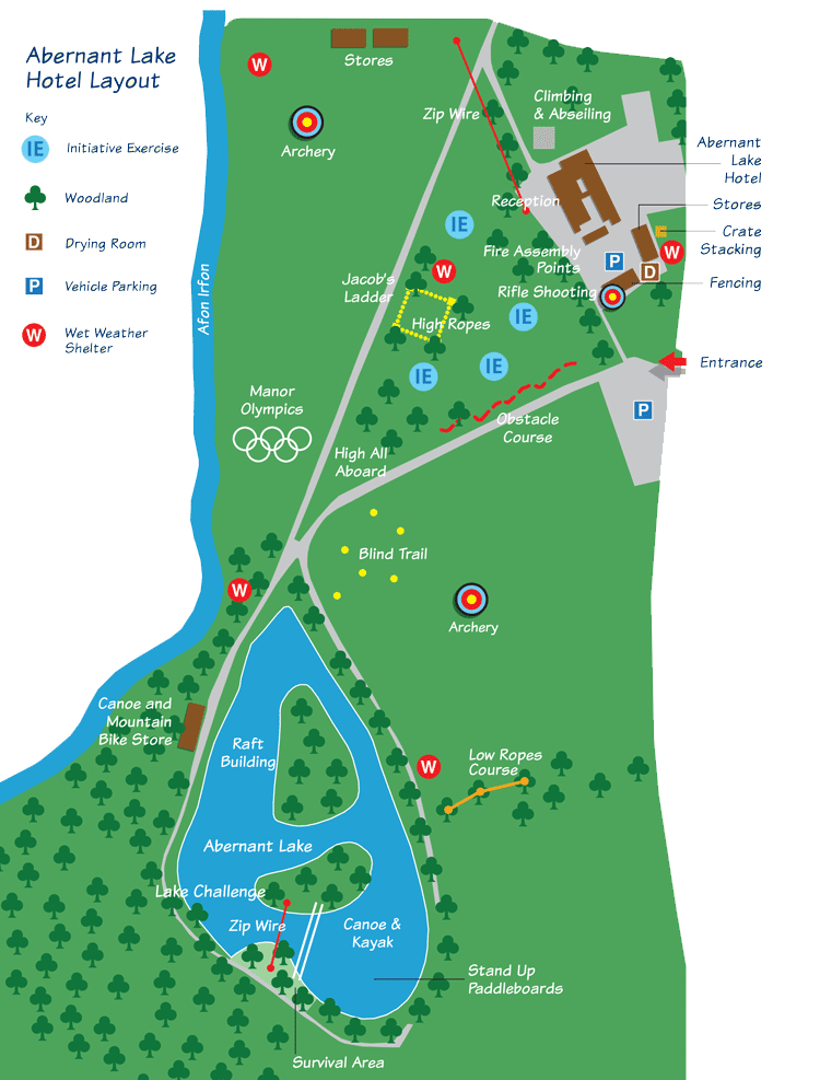 wales activity centre map