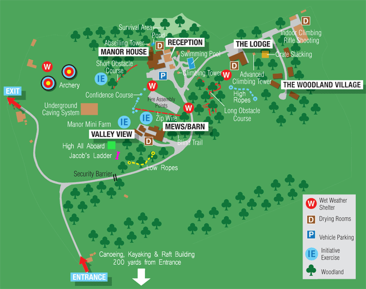 UK activity centre map