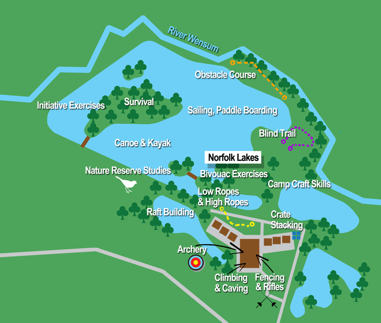 Norfolk activity centre map