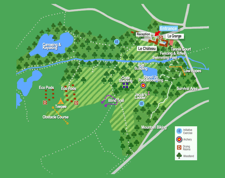 french school trip centre map